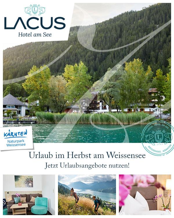 LACUS - Hotel am See | Urlaub Herbst mit Baby Weissensee Kärnten